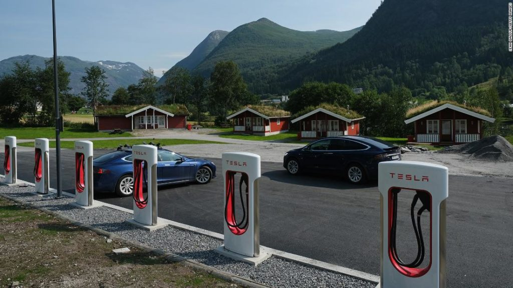 Electric cars hit record 54% of sales in Norway as VW overtakes Tesla