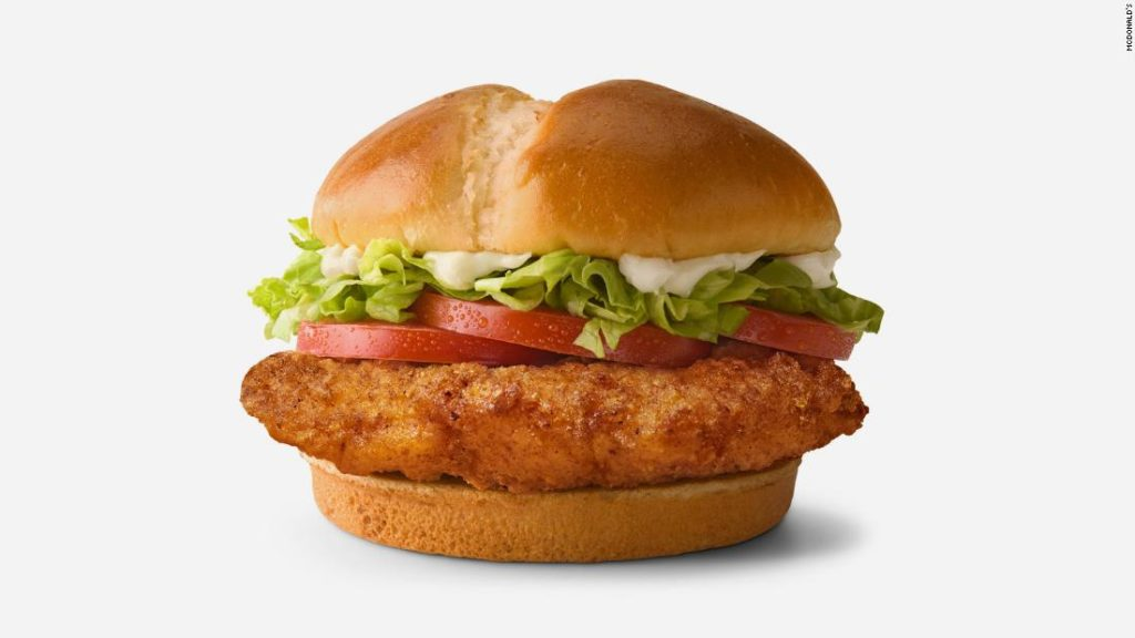 McDonald's adds three new sandwiches to compete in chicken wars