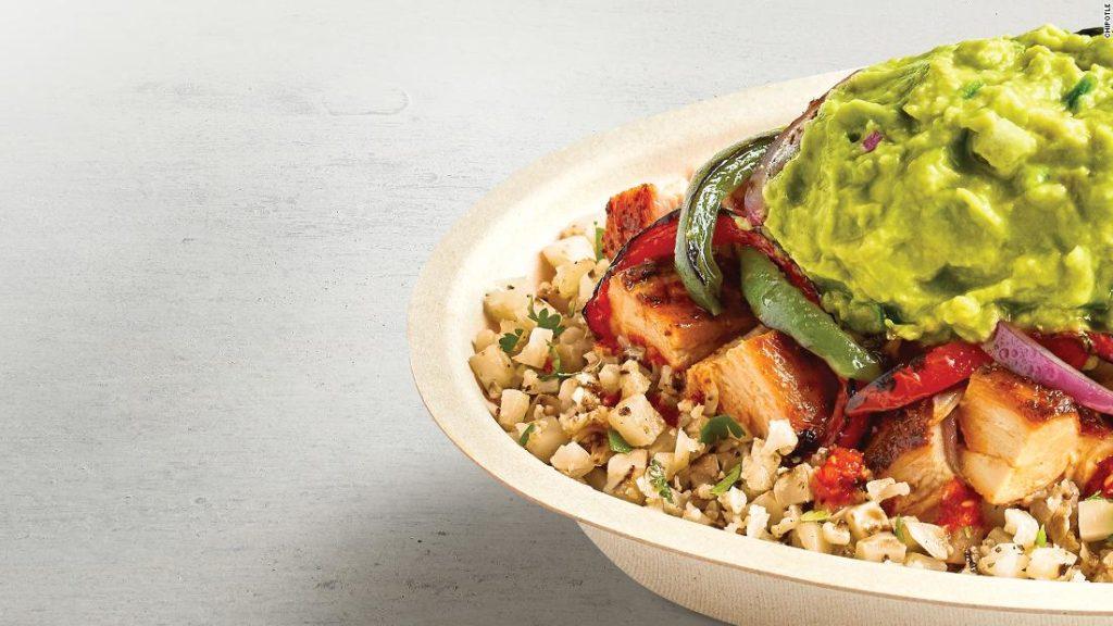 Chipotle adds cauliflower rice to its menu