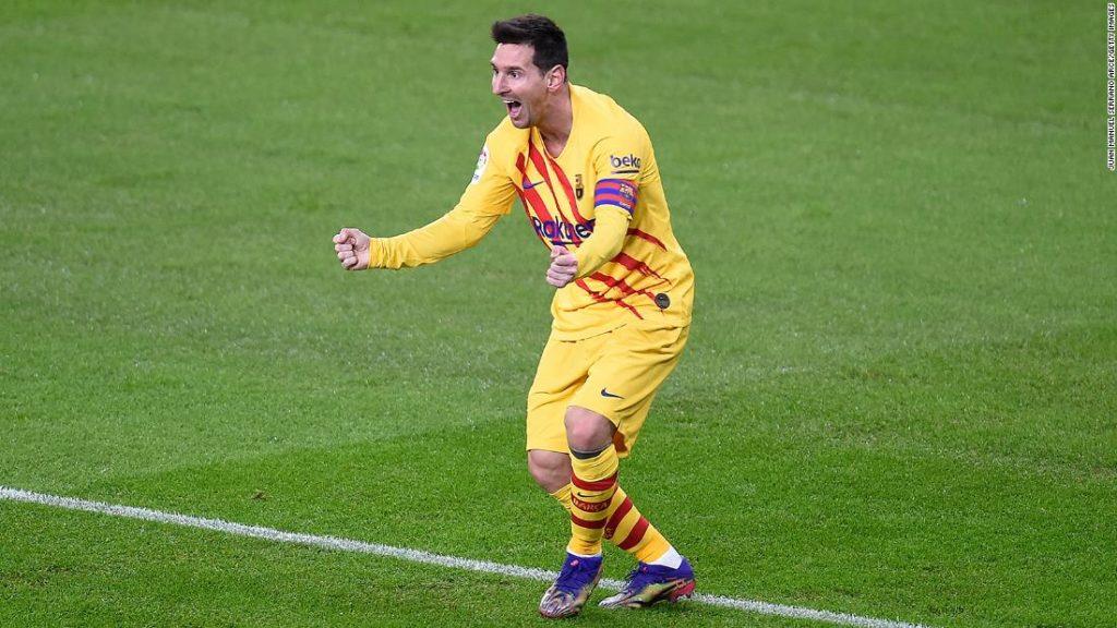 Lionel Messi scores twice as Barcelona beats Athletic Bilbao
