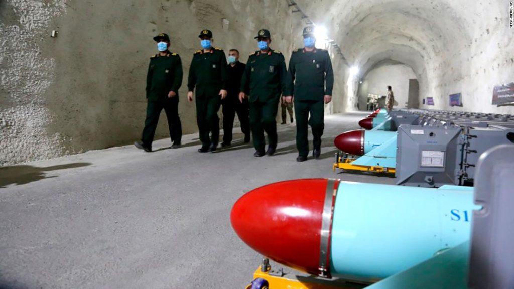 Iran unveils underground missile base on Gulf coast, state media says