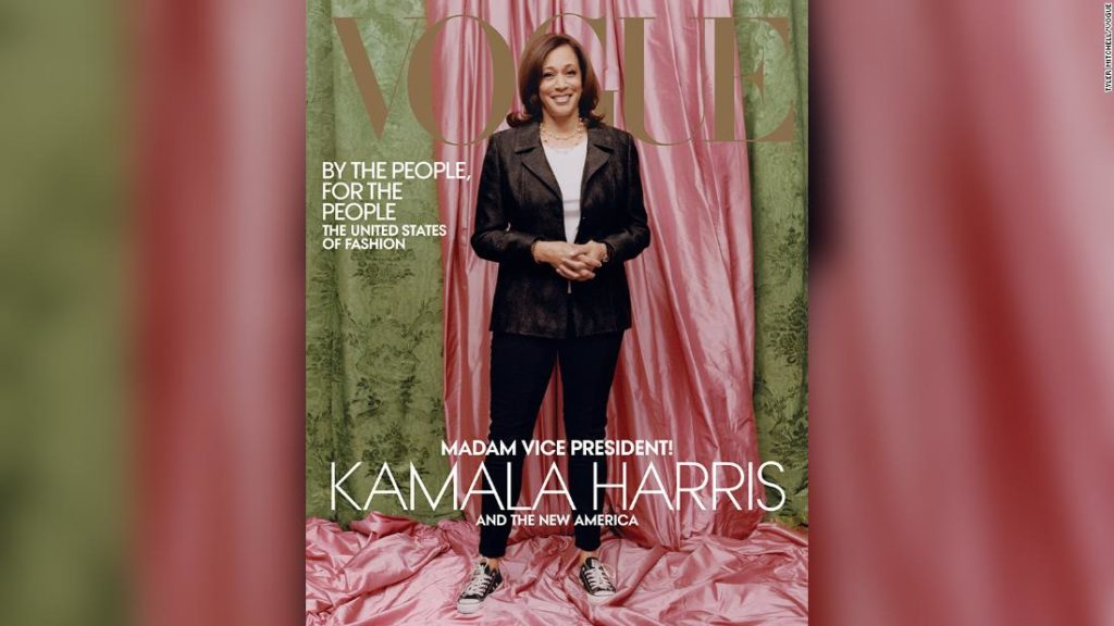 Kamala Harris' Vogue cover causes stir online