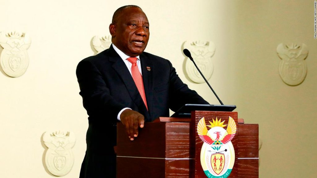 South African President announces extension of Covid-19 restrictions, closes land borders.