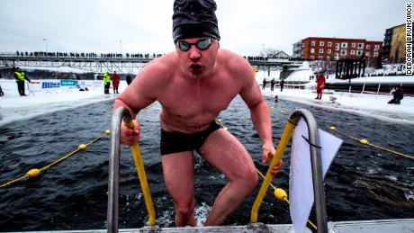 Ice swim racing is not for the faint of heart -- literally