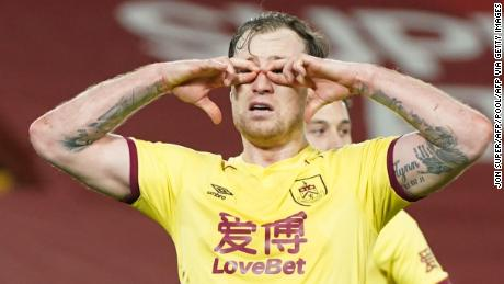 Ashley Barnes' late penalty secured three crucial points for Burnley.