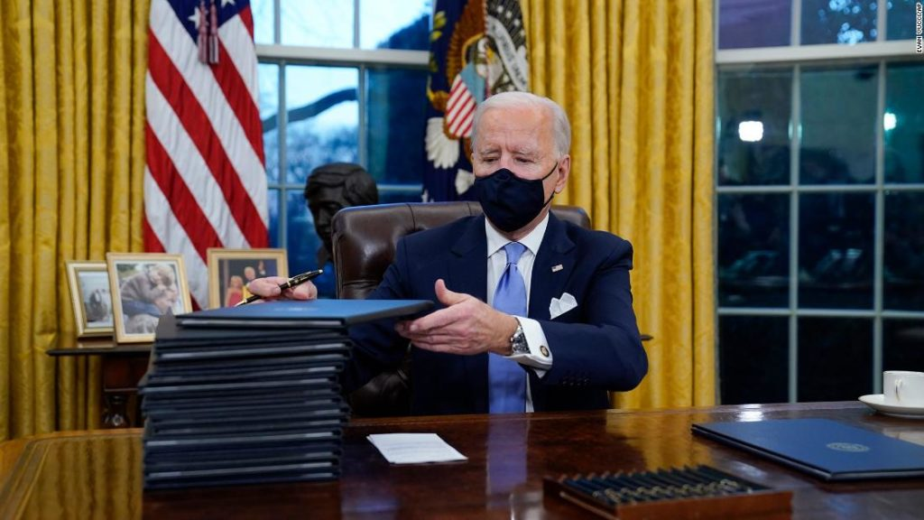 Here are the 30 executive orders and actions Biden will sign in his first three days