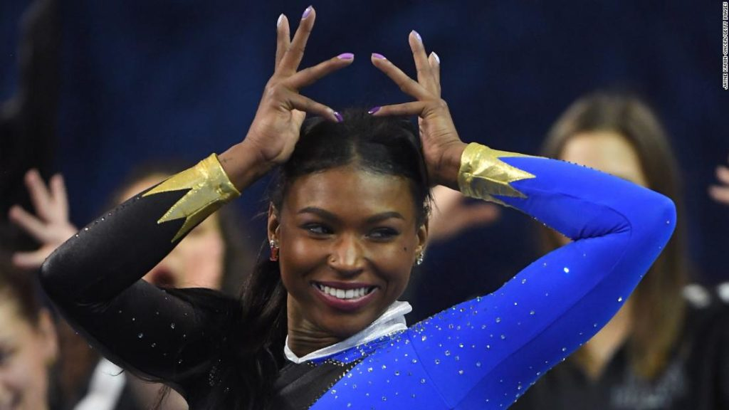 Gymnast Nia Dennis earns praise for her 'Black excellence' routine