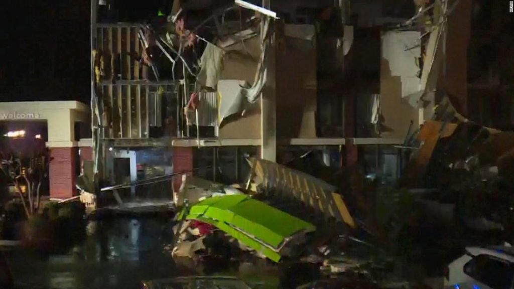 Alabama tornado: Hotel sustains significant damage after tornado rips through Birmingham area