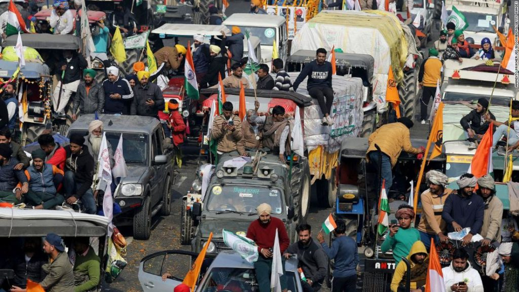 Republic Day 2021: Indian farmers ramp up their protest by riding tractors into the capital