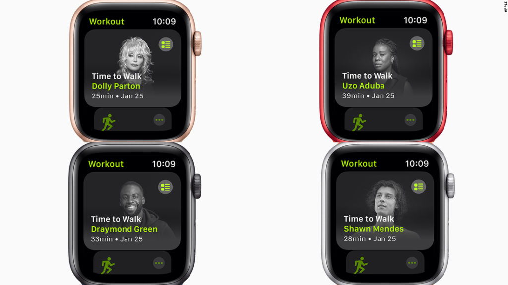 Apple's new 'Time to Walk' feature puts Shawn Mendes and Dolly Parton on a walk with you