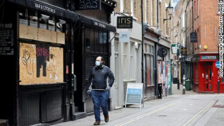 A quiet street in London during lockdown on January 15.