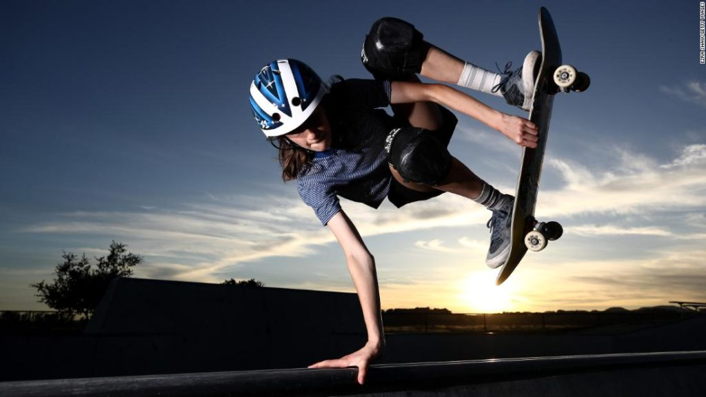 Skateboarding: 14-year-old Mina Stess chases Olympic dream