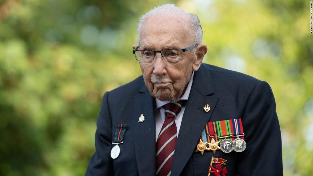 100-year-old UK fundraising hero Tom Moore hospitalized with Covid-19