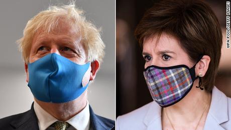 Boris Johnson and Scottish First Minister, Nicola Sturgeon