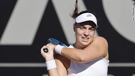 Konjuh progressed to the second round of Australian Open qualifying in Dubai.