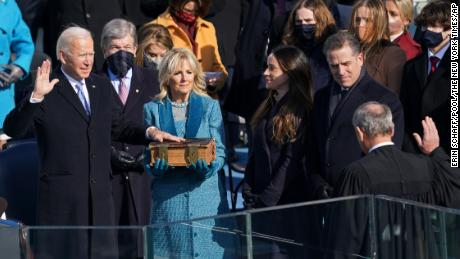 Biden was sworn in on a storied 19th century family Bible
