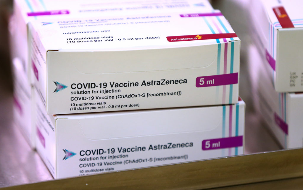 Doses of the Oxford University/AstraZeneca Covid-19 vaccine are seen at the Princess Royal Hospital in Haywards Heath, West Sussex, England, on January 2.