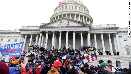 Supporters of President Trump storm the US Capitol on January 6, 2021.