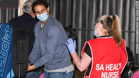 Rafael Nadal headed straight to quarantine after landing in Australia this month.