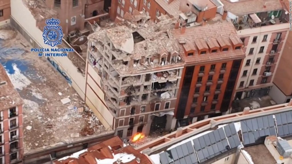 See aftermath of deadly Madrid explosion
