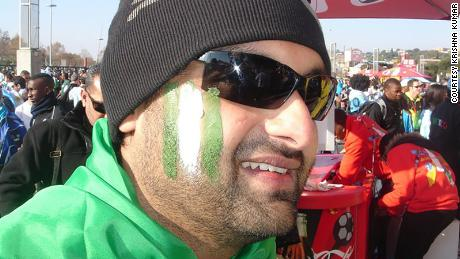 Krishna Kumar at the 2010 FIFA World Cup in South Africa.