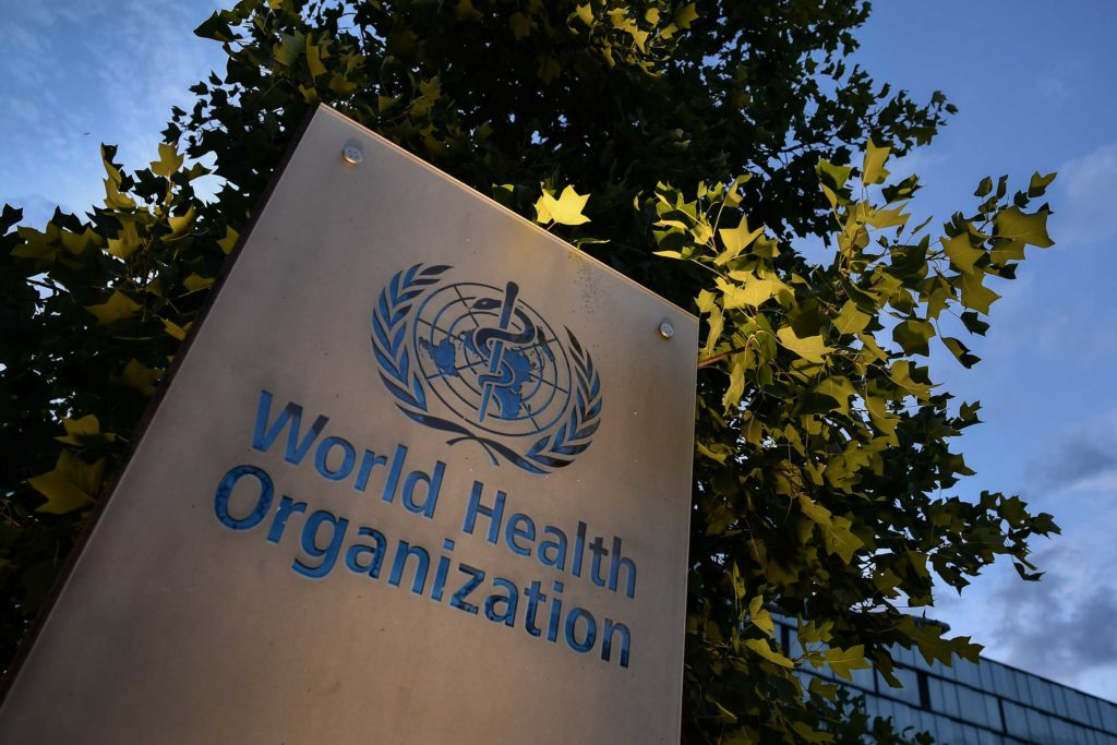 The World Health Organization's headquarters in Geneva, Switzerland, in August 2020.