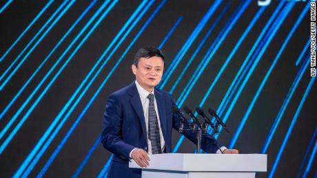 Jack Ma speaks during the 2020 China Green Companies Summit last September.