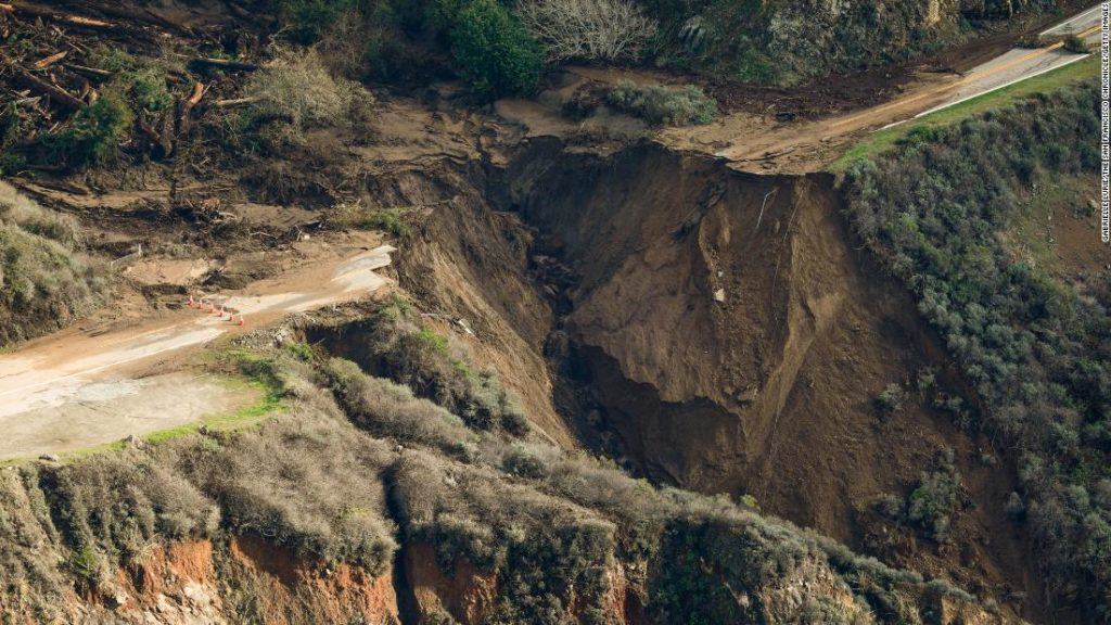 Big Sur road collapse: A huge piece of California's Highway 1 was washed out