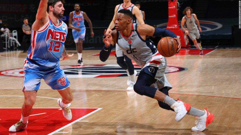 NBA: Washington Wizards hit two three-pointers in final ten seconds to snatch victory from star-studded Brooklyn Nets