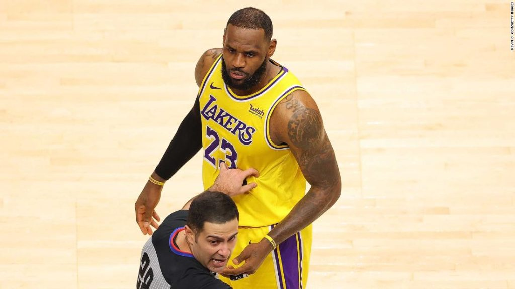 LeBron James: Fans ejected after courtside argument during match