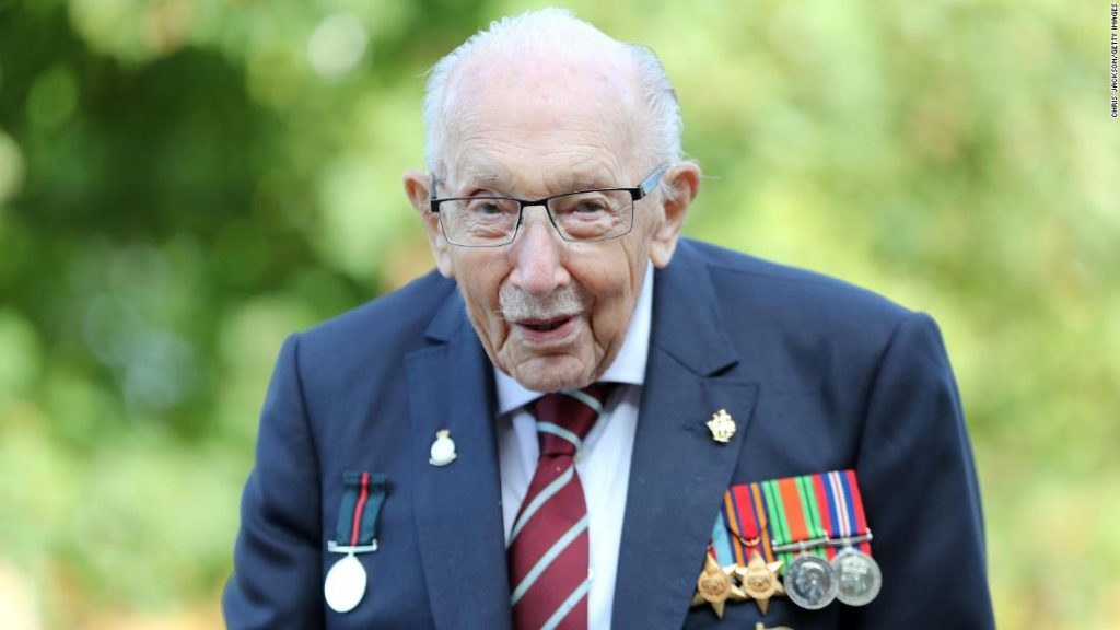 Captain Sir Tom Moore, who raised millions for the NHS, dies aged 100
