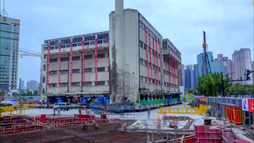 A 5-story building in China 'walks' to new location