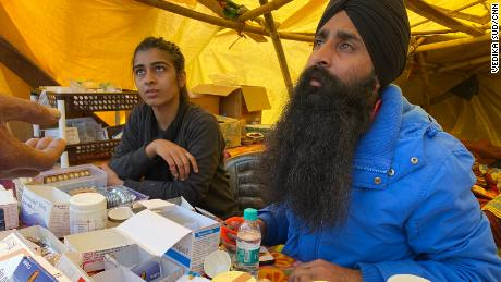 Himanshi Rana at the medical tent in Ghazipur on the outskirts of New Delhi, on February 4, 2021.