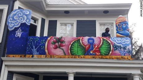 A Buddhist-theme panel is among float artist René Pierre's favorite 2021 commissions.