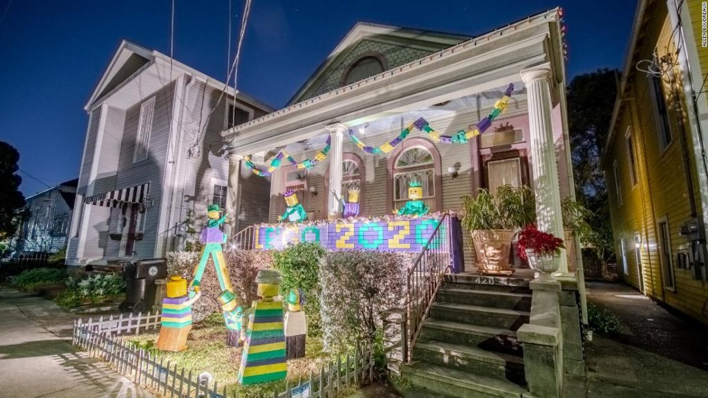 Mardi Gras parades got canceled by Covid-19. So, New Orleanians turned their houses into floats