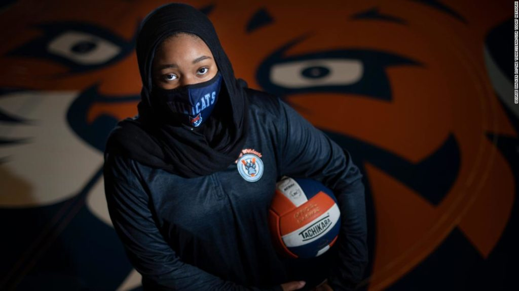 A student athlete sparked national change after being disqualified from a volleyball match for wearing a hijab