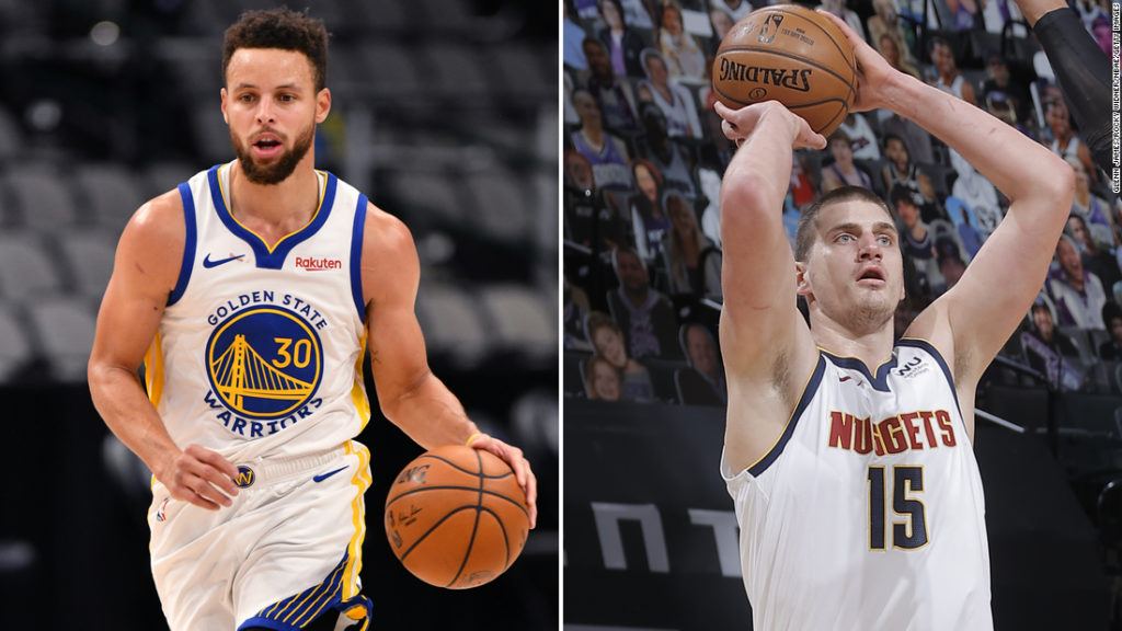 NBA: Steph Curry and Nikola Jokic score 50 points or more -- but both lose