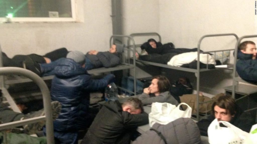 'This is full-on hell': Russian protesters describe detention in cramped cells