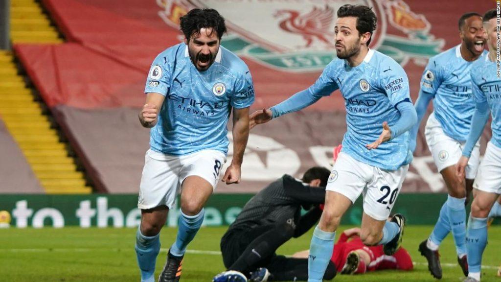 Premier League: Manchester City beat Liverpool as Ilkay Gundogan misses penalty, scores twice