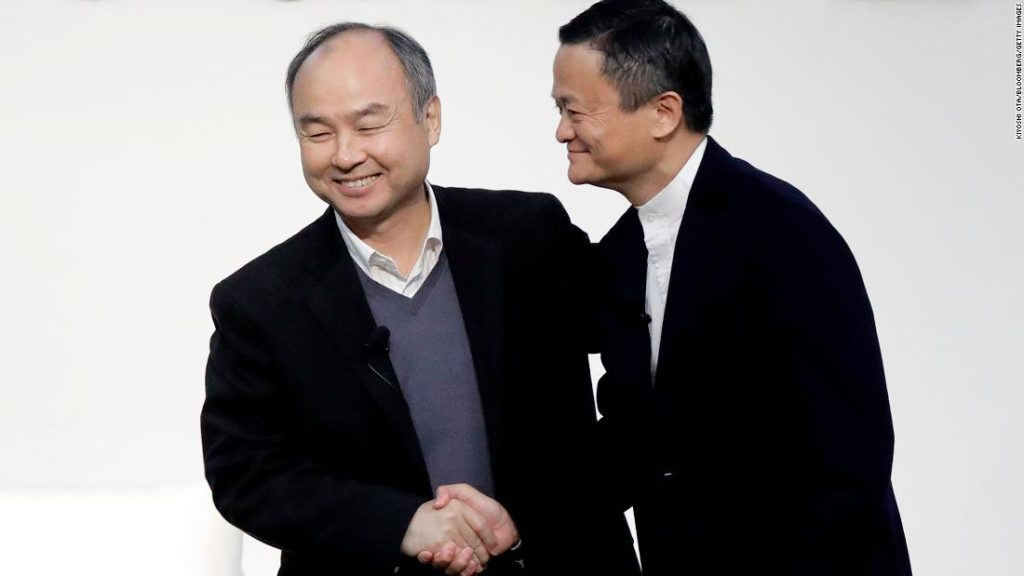 Jack Ma is swapping drawings with SoftBank's Masaoyshi Son