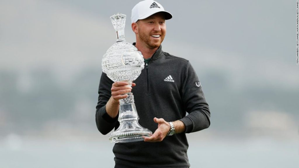 Daniel Berger sinks eagle putt on the final hole to win at Pebble Beach