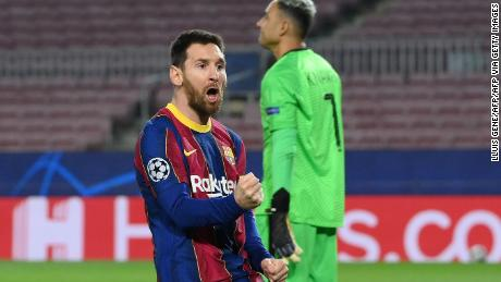 Lionel Messi had put Barcelona ahead before PSG stepped it up.