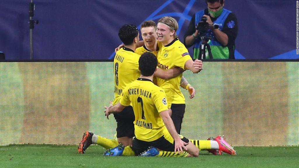 Champions League: Borussia Dortmund beats Sevilla as Erling Haaland nets brace