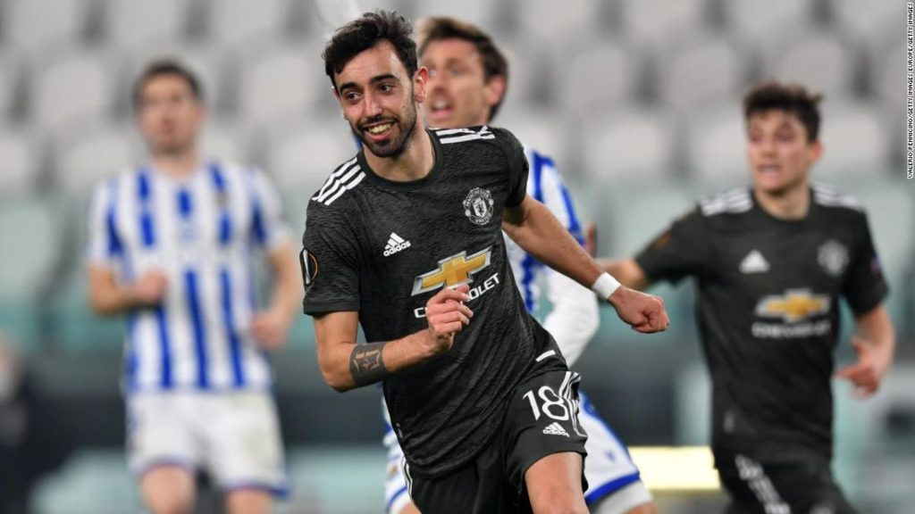 Bruno Fernandes inspires Manchester United to victory against Real Sociedad