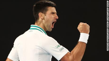 Djokovic is now just two grand slams behind the all-time record of 20 jointly held by Rafael Nadal and Roger Federer.