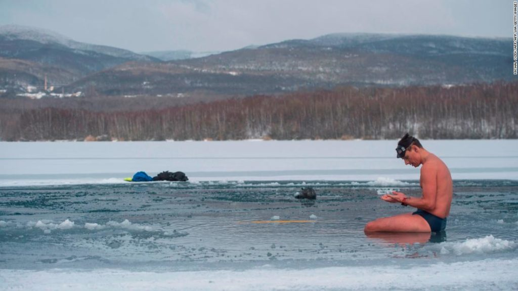 David Vencl: Czech free-diver breaks ice-swim world record