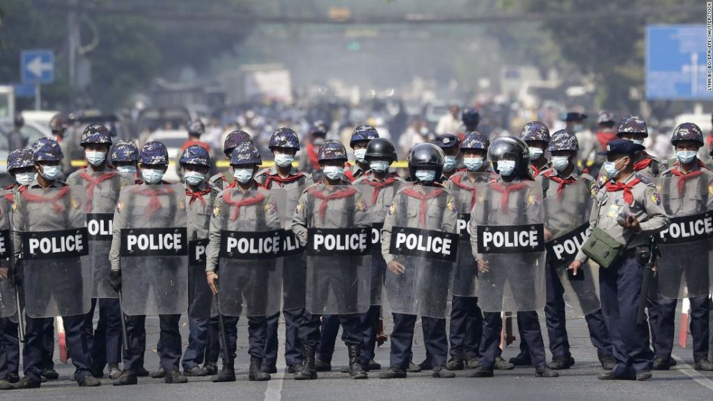 Myanmar police and military kill at least 18 people after opening fire on protesters, UN says