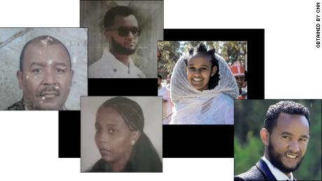 (Clockwise from left) Isayas Asgedom, Isaaq Isayas Asgedom, Arsema Yemane, Biniam Yemane and Alemtsahay Asgedom were all killed at the house where Marta was staying.
