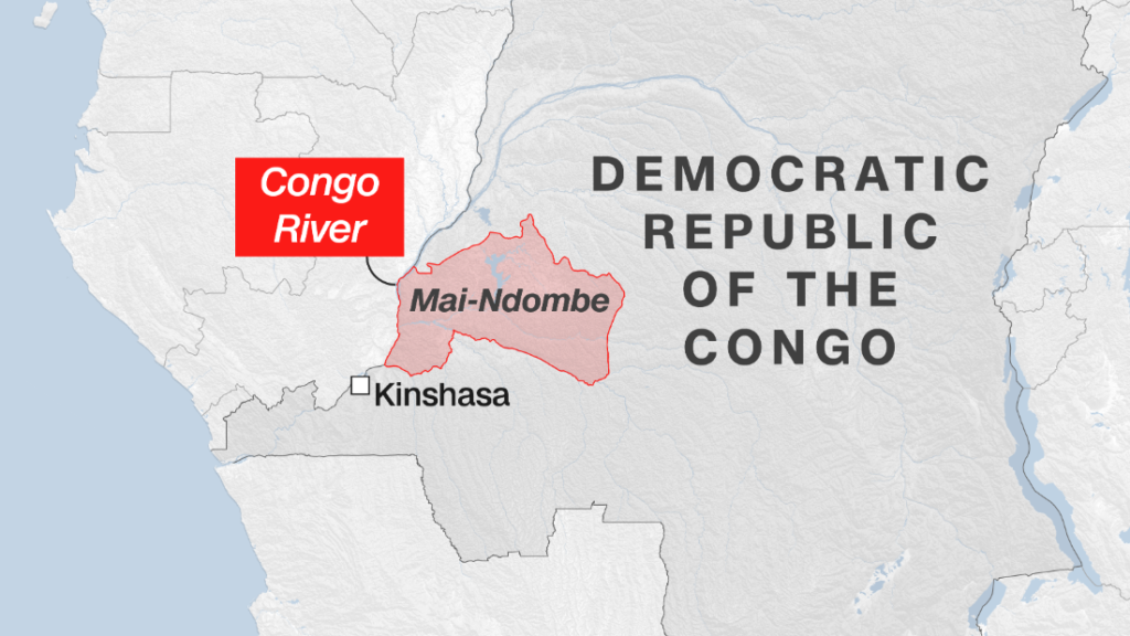 At least 60 killed after passenger barge crashes on Congo river