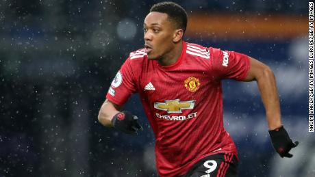 Anthony Martial was racially abused on social media after Manchester United's draw against West Brom.